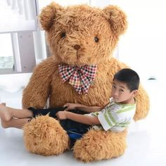 224.10$  Watch here - http://alirqy.worldwells.pw/go.php?t=32277453573 - Fancytrader Top-quality 63'' / 160cm JUMBO Plush Stuffed Cute Brown Teddy Bear Toy, Great Gift, Free Shipping FT50433