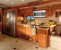2011 Monaco Diplomat luxury motorcoach kitchen. If we win the lottery we definitely need a motorcoach for our travels.