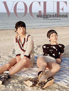 Karlina Caune & Monika Sawicka by KT Auleta for Vogue Italia May 2012