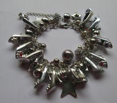 Barbie Shoe  Bracelet Pastel colored / Silver Metallic with stars  / ITEM 3593