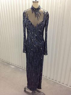 Amazing lavender and black gown from Bob Mackie on eBay for $1200.00