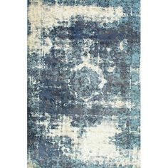 nuLOOM Machine Made Vintage Lindsy Area Rug or Runner, Blue