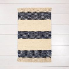 Jute Stripe Rug With Fringe Navy - Hearth & Hand™ With Magnolia : Target Jute Rug, Woven Rug, Boho Diy, Boho Decor, Country Family Room, Target Rug, Navy Rug, Washable Rugs, Striped Rug