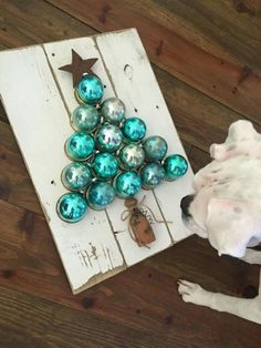 67 How to Make a Chevron Pallet Ornament Christmas Tree (47)