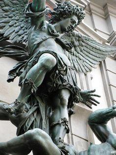 Michael archangel vanquishing the devil. 1603-06. Au Hans Reichle. http://hadrian6.tumblr.com