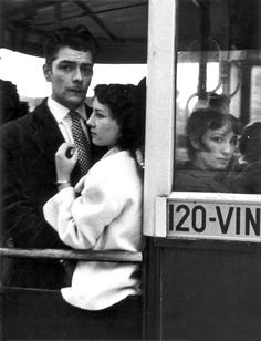 Robert Frank bus Paris 1950s
