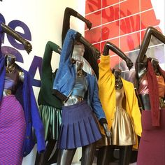 Metallics in brand new hues on display in our Hollywood store window! Fashion Forecasting, Visual Merchandising, American Apparel, Tulle, Hollywood, Brand New, Hoodies, Denim, My Style