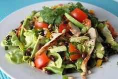 The Café Sucré Farine: Southwestern Grilled Chicken Salad with Tomato and Black Bean Salsa