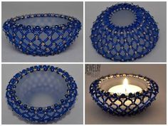 Karla Mokrošová Light Covers, Tea Lights, Beading, Swarovski, Candle Holders, Candles, Ornaments, Christmas Ideas, Mesas