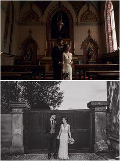 Utopia Wedding - Broughton Hall - Skipton - North Yorkshire Wedding - Quirky Wedding - Wedding Dress - Ava Rose Silsden - Paul Joseph Photography - Bride and Groom Portraits - www.pauljosephphotography.co.uk