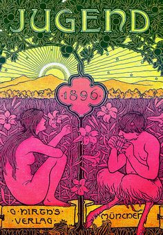 Roots of psychedelia:  Jugend Magazine, 1896 <----- 1896..  ahead of their time.