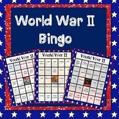 $ Help your students review key World War II terms by playing Bingo!  Includes: 30 unique bingo cards 24 calling cards with terms 24 calling cards with definitions game pieces
