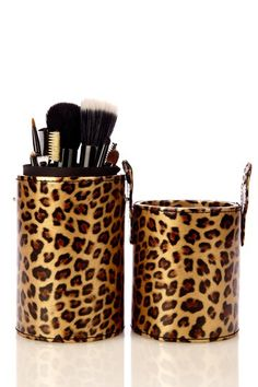 Haute Exclusive 9-Piece Set with Brush Tube - Leopard