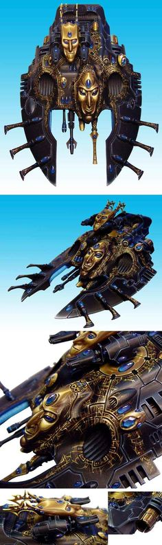 "Another candidate for best miniature painter as voted by Reddit.  CoolMiniOrNot - ""Last trick of Loyso Pandokhva"" eldar Waveserpent by Yellow one"