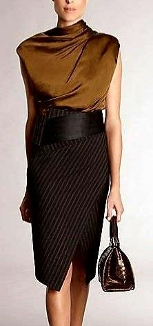 Donna Karan love the outfit Office Fashion, Work Fashion, High Fashion, Womens Fashion, Fashion Trends, Style Work, Mode Style, Looks Chic, Looks Style