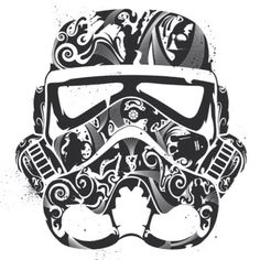 This looks like the HUGE gas mask decal we got Ross for Christmas to put on his closet doors.  Awesome!