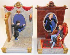 Harry Potter Bookends Set of 2 Hermonie Ron Resin Hallmark 2000 Gryffindor House