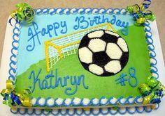 Soccer Cake ideas for Gracie's 6th Birthday