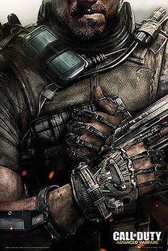 Póster Portada Call of Duty Advanced Warfare Póster perteneciente al popular videojuego basado en la undécima entrega Call of Duty Advanced Warfare.