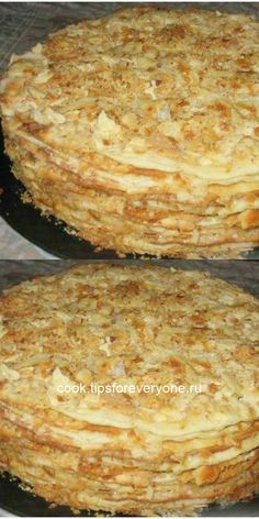 """I stumbled upon this miracle recipe by chance and now I cook """"Napoleon"""" only in a pan. Baking Recipes, Cake Recipes, Easy Cake Decorating, Russian Recipes, Sweet Cakes, Homemade Cakes, Food Photo, Food To Make, Food And Drink"""