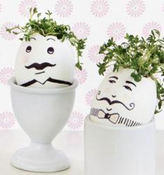 DIY Gentleman Easter eggs with cress hair // Úriember húsvéti tojások zsázsa hajjal - különleges tojásfestés // Mindy - craft tutorial collection // #crafts #DIY #craftTutorial #tutorial