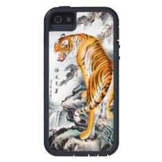 Cool Tattoo Oriental and Japanese Fine Art - Customizable Gifts and Home Decoration from Zazzle: SOLD! - Cool oriental chinese fluffy tiger watercolor ink iPhone 5 case Tough Xtreme