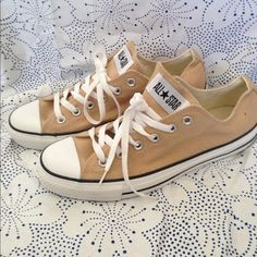 Tan Converse Only worn once tan Chuck Taylor Converse. Size 8 Men's Size 10 Women's. Converse Shoes Athletic Shoes