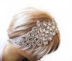 Wedding Crystal Headband, wedding hairstyle, Hair Accessory , Wedding Veils,Vintage Inspired, Rhinestone, Bridal, Hair Accessories