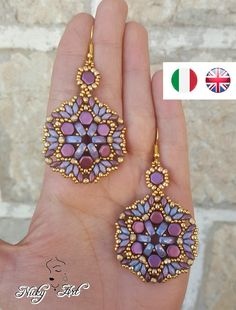 Pansè Earrings beading pattern