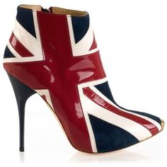 Alexander Mcqueen Leather Union Jack Boots