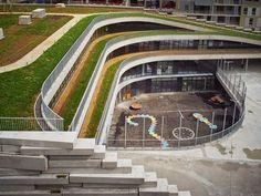 escola telhado verde