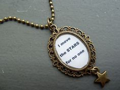 David Bowie Jareth Labyrinth Within You Song Lyrics Bronze Necklace