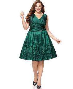 SL Fashion Plus Size Dress, Sleeveless Ruched Empire Waist Pleated A-Line - Plus Size Dresses - Plus Sizes - Macy's - StyleSays
