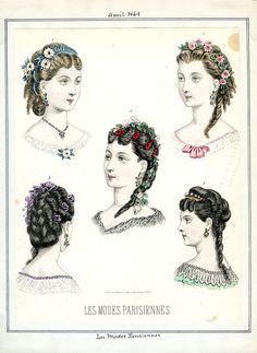 Fashion plate, Les Modes Parisiennes 1869