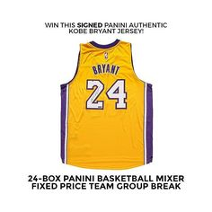 Win this @paniniamerica Authenticated #kobebryant jersey today in the #sccbreakroom. Join our 24-Box Pick Your Team Basketball Mixer going off today at 3:00 P.M. Check out the remaining teams and boxes in the break at steelcitycollectibles.com #kobe #giveaway #basketballcards #basketballbreaks #groupbreaks #thehobby #lakers