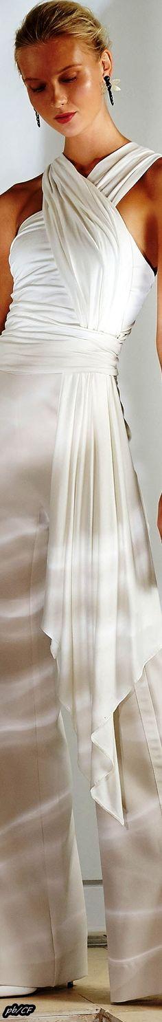 Josie Natori Spring 2019 RTW Black Tie Affair, Shades Of White, Winter White, Elegant Woman, White Fashion, Playing Dress Up, Couture Fashion, White Lace, Spring