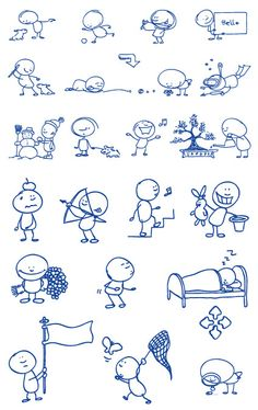 Ball-point pen drawing of the cartoon vector material -2