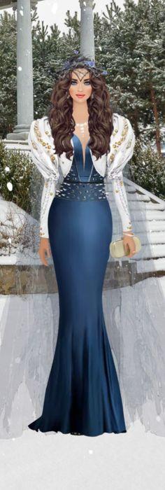 Princess Gowns, Model Sketch, Doll Painting, Black Barbie, Covet Fashion Games, Fashion Dolls, Bridal Gowns, Winter Fashion, Illustrations