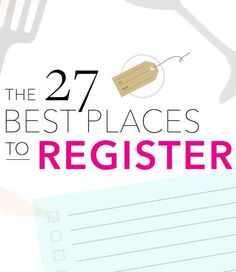 top 27 places to register for your wedding