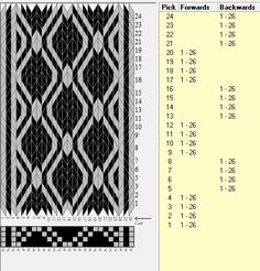 26 cards, 2 colors, repeats every 8 rows, sed_1088, GTT༺֍