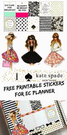 BelindaSelene: Free Kate Spade Inspired Printable Stickers