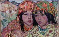 'Rani and her Sister' - Leon Gaspard (1882–1964)