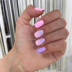 Nail Shapes - My Cool Nail Designs Pink Nails, Gel Nails, Nail Polish, Nail Manicure, Ombre Nail Designs, Nail Art Designs, Stylish Nails, Trendy Nails, Cute Acrylic Nails