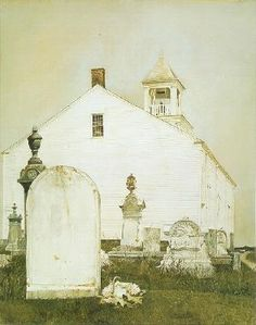 Old church and older patrons...  Andrew Wyeth