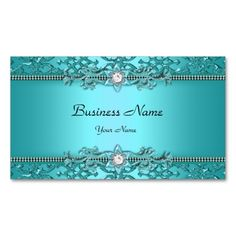 Elegant Teal Blue Damask Embossed Look Double-Sided Standard Business Cards (Pack Of 100). This is a fully customizable business card and available on several paper types for your needs. You can upload your own image or use the image as is. Just click this template to get started!
