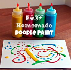 Homemade doodle paint