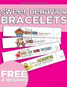 PBIS Sweet Behavior Bracelets {Printable} - KindergartenWorks