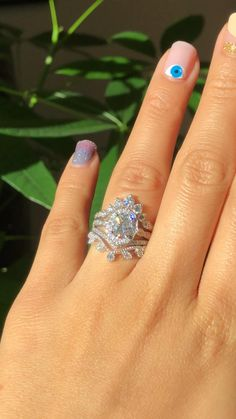 Stacked Engagement Ring, Heart Shaped Engagement Rings, Luxury Engagement Rings, Vintage Inspired Engagement Rings, Stacked Wedding Rings, Floral Engagement Ring, Traditional Engagement Rings, Beautiful Wedding Rings, Design Of Rings
