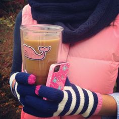 dreary weather-ready with our striped texting gloves
