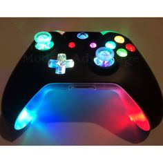 This is an authentic Modest Advantage xbox one controller with a full color changing LED mod, including the shell underglow. If you have any questions feel free to message me. More of our work can be seen in our instagram gallery (modestadvantage)